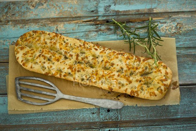 Focaccia with and thyme — Stock Photo