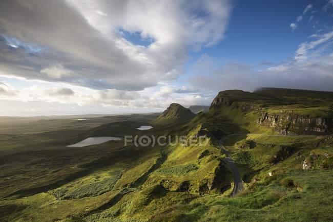 Royaume-Uni, Écosse, île de Skye, Quiraing le matin — Photo de stock