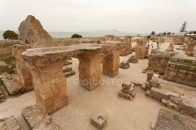 Туніс, археологічні сайт Карфаген руїни — стокове фото