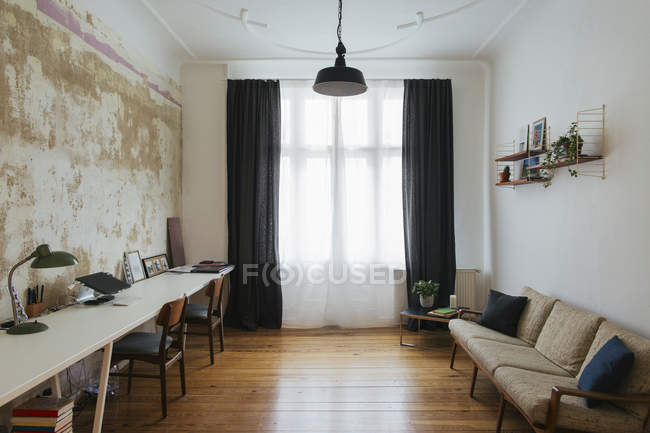 Retro style home office — Stock Photo