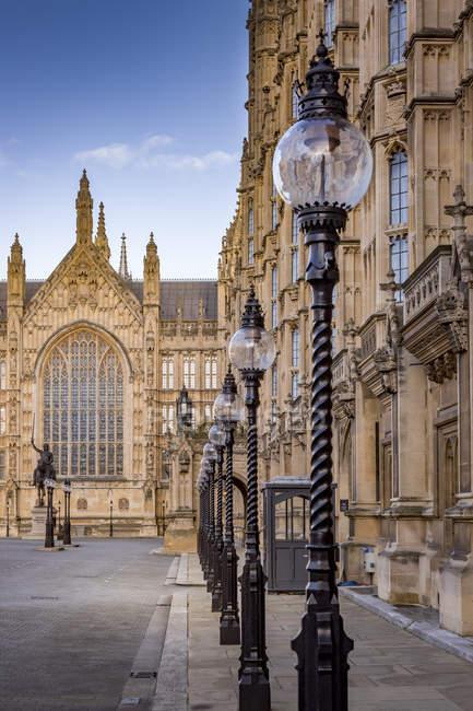 Cortile di Palazzo Vecchio nel Regno Unito, Londra, Palazzo di Westminster — Foto stock