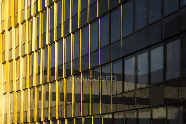 Germany, Munich, part of facade of Munich Re — Stock Photo