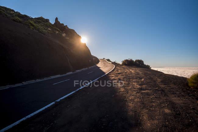 Іспанія, Тенеріфе, Національний парк Тейде, гірській дорозі — стокове фото