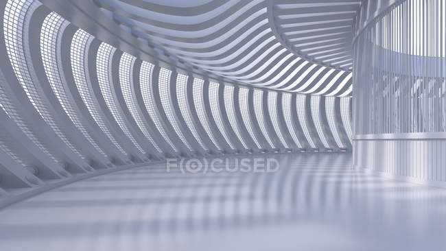 Empty hall in a modern building, 3D Rendering — Stock Photo