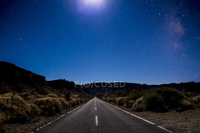 Spain, Tenerife, Teide National Park, Starry night sky — Stock Photo