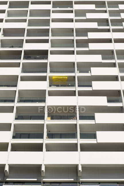 Germany, Duesseldorf, loggias of high-rise residential building — Stock Photo