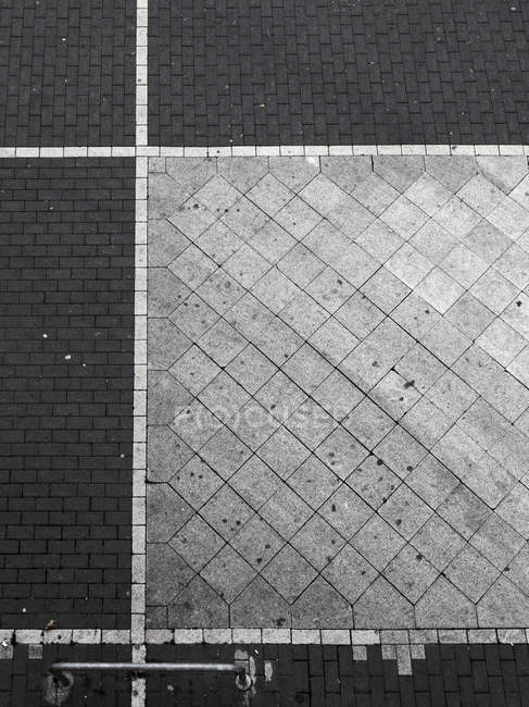 Geometrical pattern of pavement — Stock Photo