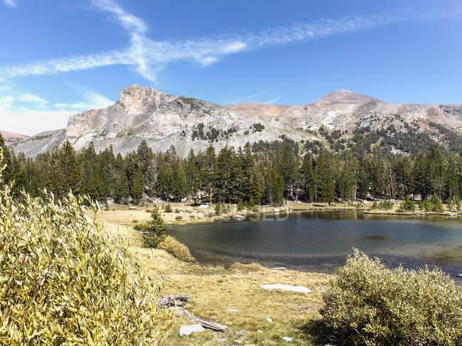 Тайога озеро в Yosemite Национальный парк Сьерра Невада, Калифорния, США — стоковое фото