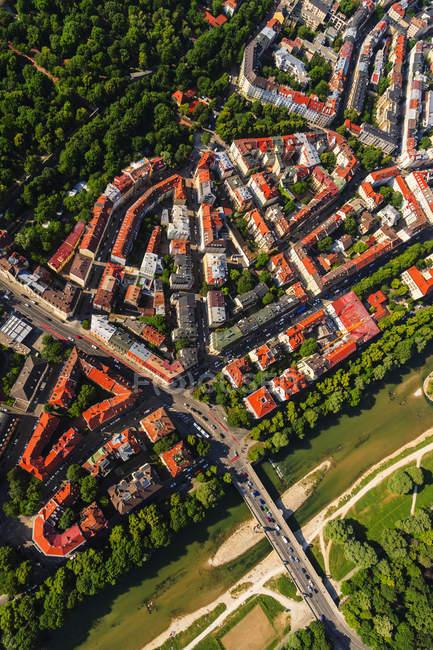 Alemanha, Bavaria, Munique, arredores de isar, bairro de Glockenbach — Fotografia de Stock