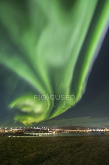Норвегия, Тромсо, Северное сияние — стоковое фото