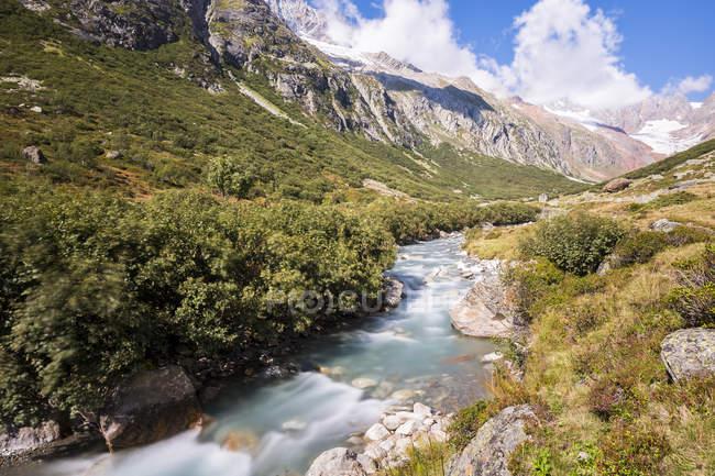 Switzerland, Canton of Uri, Goescheneralp, Chelenalp valley, mountain stream Chelenreuss — Stock Photo