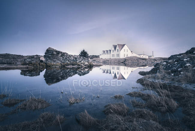 Iceland, Sudurland, Straumur, residential houses — Stock Photo