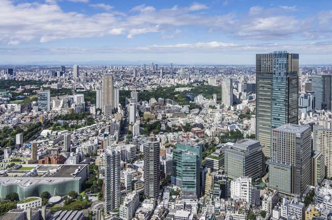 Vue du paysage urbain de Tokyo dans la journée, Japon — Photo de stock