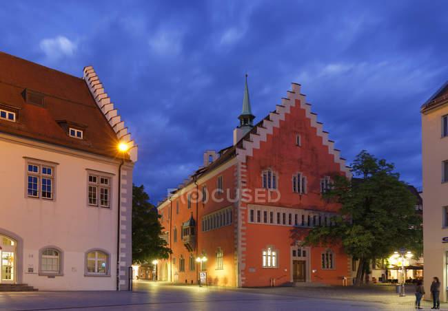Germany, Baden-Wuerttemberg, Ravensburg, town hall at Marienplatz — Stock Photo