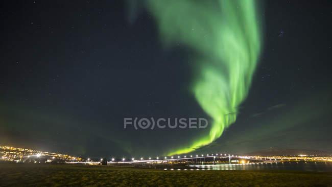 Норвегія, Тромсе, Північне сяйво — стокове фото