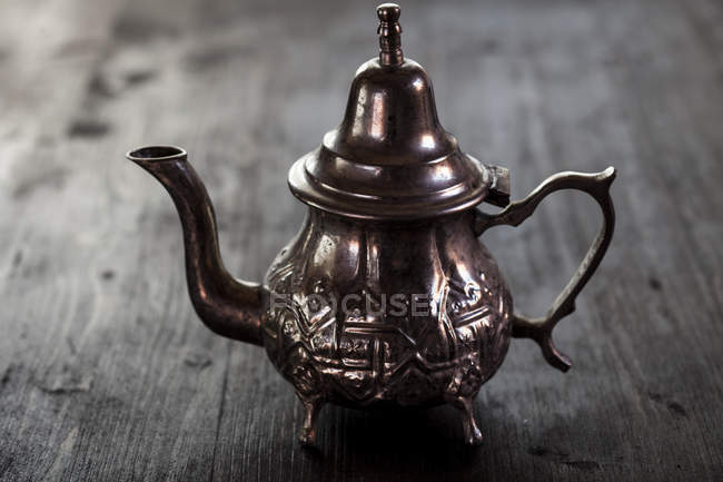 Vue de théière marocaine traditionnelle — Photo de stock