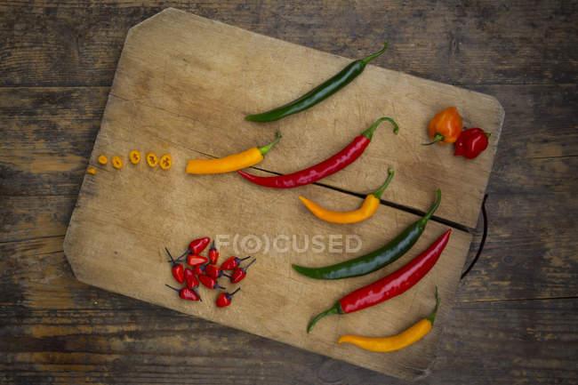 Chiles coloridos - foto de stock