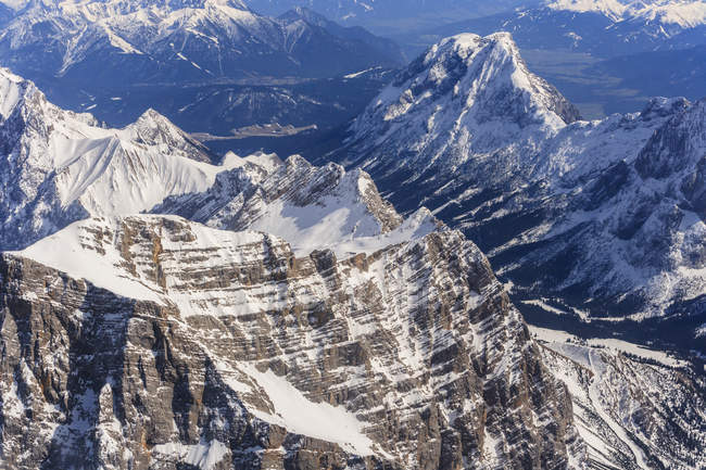 Germany, Bavaria, Alps with Alpspitz mountain — Stock Photo