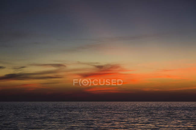 Thailand, Colorful sunset over Andaman Sea — Stock Photo