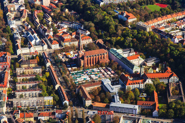 Luftaufnahme der auer dult, München, Bayern, Deutschland — Stockfoto