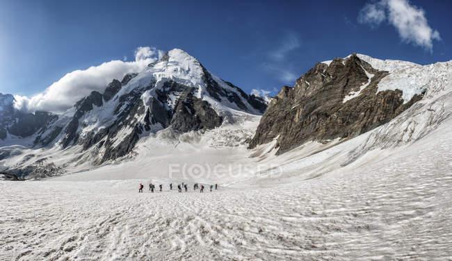 Швейцария, альпинистов на d'Herens Дент — стоковое фото
