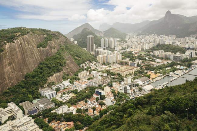 Vista do Brasil, Rio de Janeiro, do Botafogo durante o dia — Fotografia de Stock