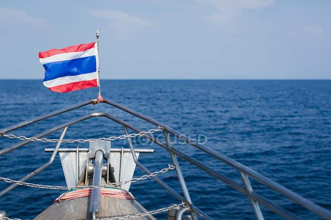 Thailand, Thai flag on boat  during daytime — Stock Photo