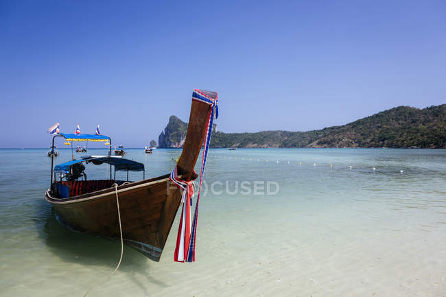 Thailand, Koh Phi Phi Island, Andaman Sea, long-tail boat  during daytime — Stock Photo