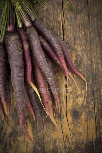 Кучу Purple Haze на темное дерево — стоковое фото