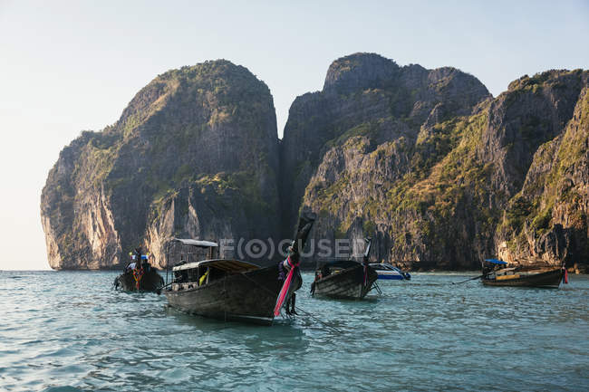 Thailand, Koh Phi Phi Island, long-tail boats  during daytime — Stock Photo