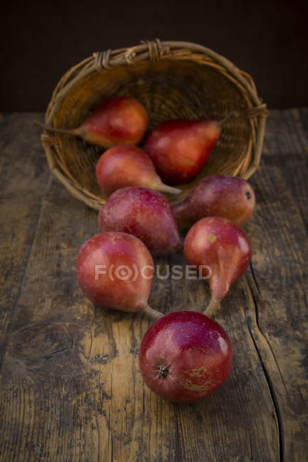 Organic red pears — Stock Photo