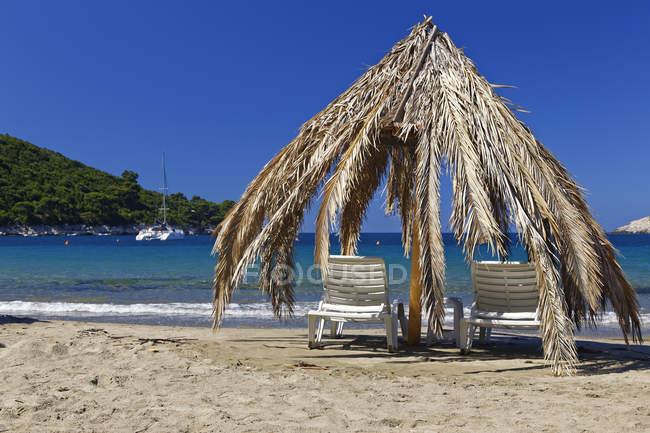 Хорватія, Далмації, Дубровник Неретва, острів Млєт, Saplunara пляж — стокове фото