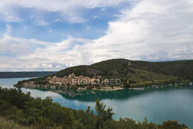 France, Alpes-de-Haute-Provence, Bauduen at Lac de Sainte-Croix — Foto stock