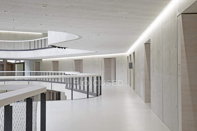 Modern office building hall in white color — Stock Photo