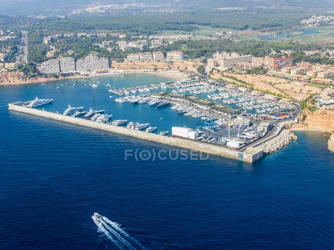 Spain, Mallorca, Palma de Mallorca, aerial view of Port Adriano — Stock Photo