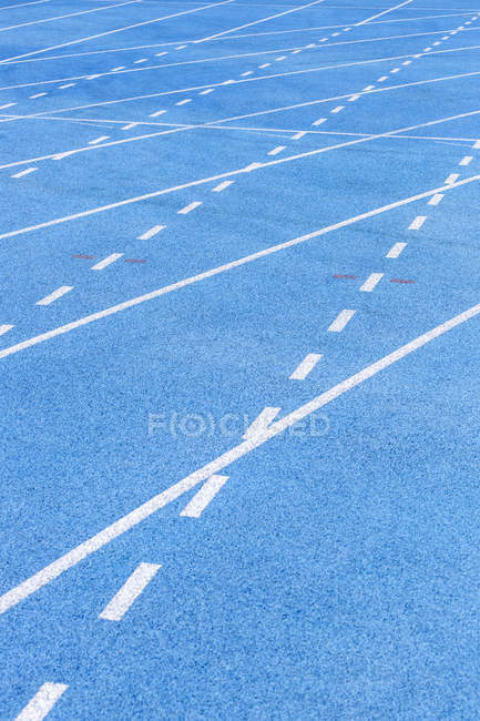 Close-up of Tartan track with straight lines — Stock Photo