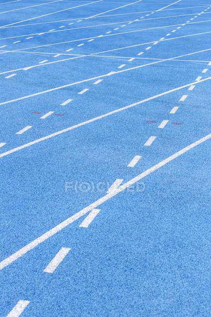 Primo piano di pista di Tartan con linee rette — Foto stock