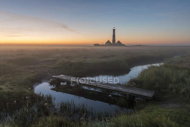 Westerheversand Lighthouse in morning light — Stock Photo