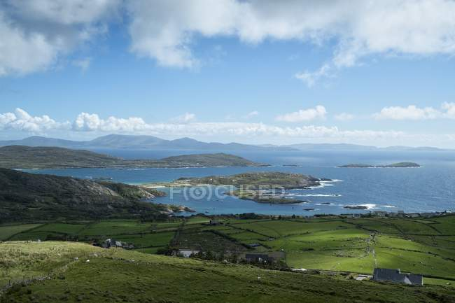 Ireland, County Kerry, View from Ring of Kerry to atlantic coast — Stock Photo