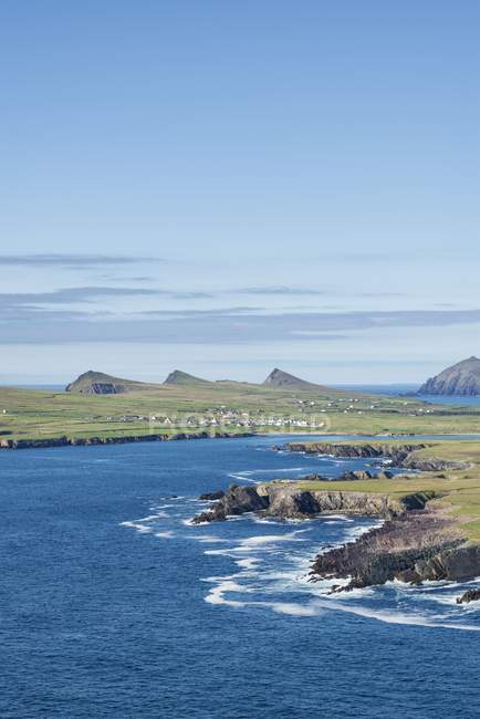 Irlande, comté de Kerry, péninsule de Dingle, vue sur la côte Atlantique — Photo de stock