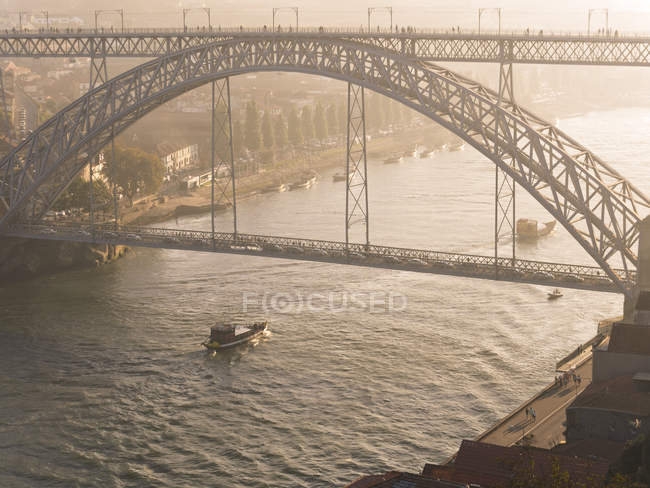 Luiz I Bridge and Douro river — Stock Photo