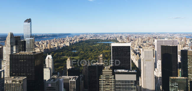 USA, New York City, view to Central Park from above — Stock Photo