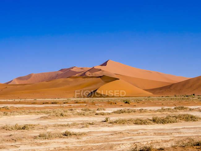 Namibie, Hardap, Sossusvlei, Dune de sable au parc national Namib-Naukluft — Photo de stock