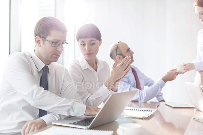 Business meeting in conference room at modern office — Stock Photo