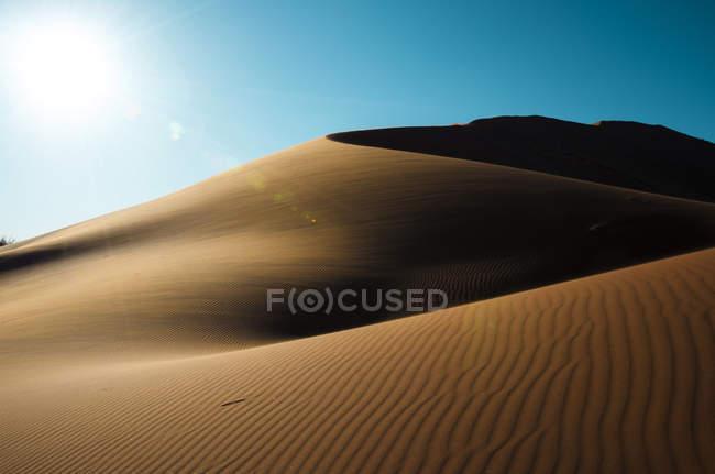Намібія, дюни Наміб, Sossusvlei, краєвид на заході сонця — стокове фото