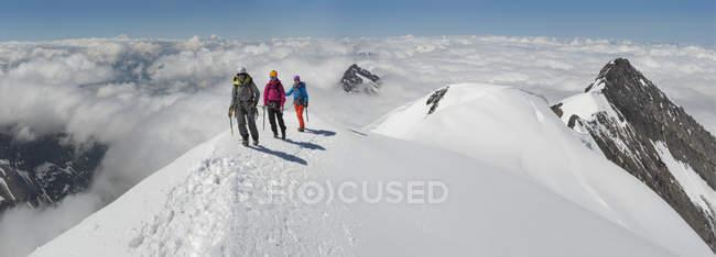 Швейцарія, західні Пекстон, альпіністів, у Balmhorn — стокове фото