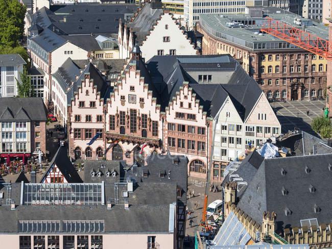 Alemania, Hesse, Frankfurt, Vista al casco antiguo, Roemer, Ayuntamiento - foto de stock