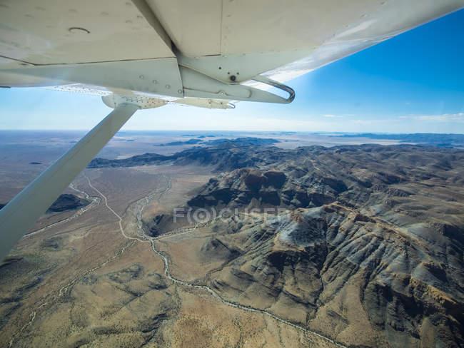 Namibia, Namib Deserto, veduta aerea della Riserva Naturale Namib Rand — Foto stock