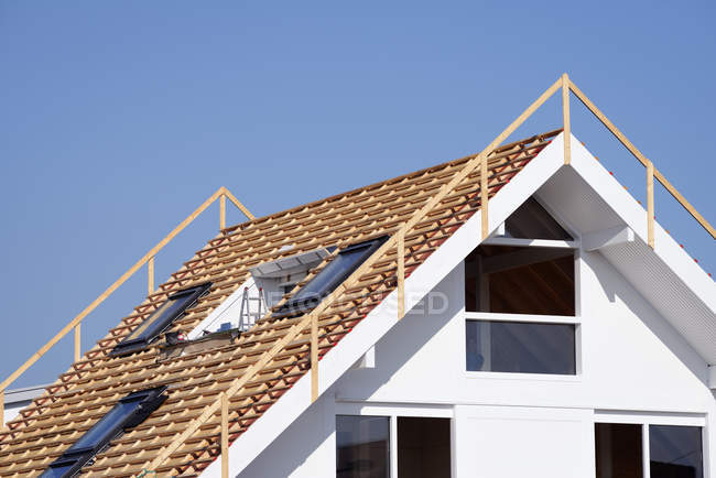 Germany, construction, roof truss during daytime — Stock Photo