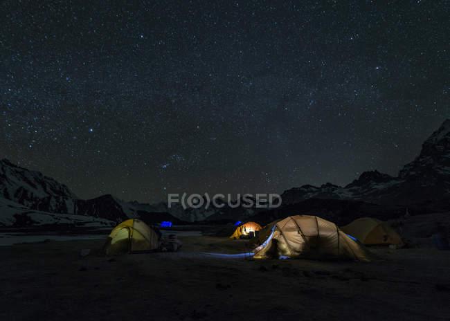 Regione dell'Everest, Ama Dablam Base Camp, Khumbu, Himalaya, Nepal — Foto stock